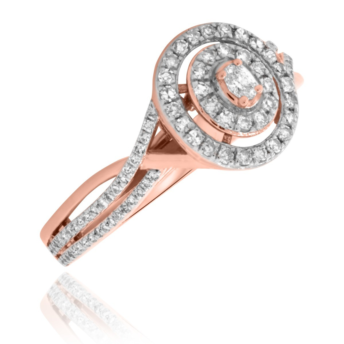 1/2 Carat T.W. Diamond Engagement Ring 10K Rose Gold