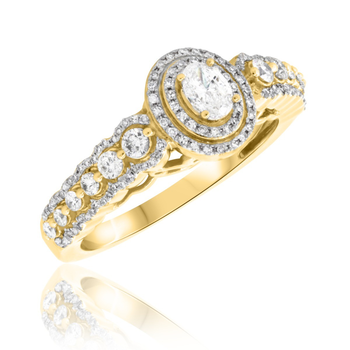 7/8 CT. T.W. Diamond Engagement Ring 14K Yellow Gold
