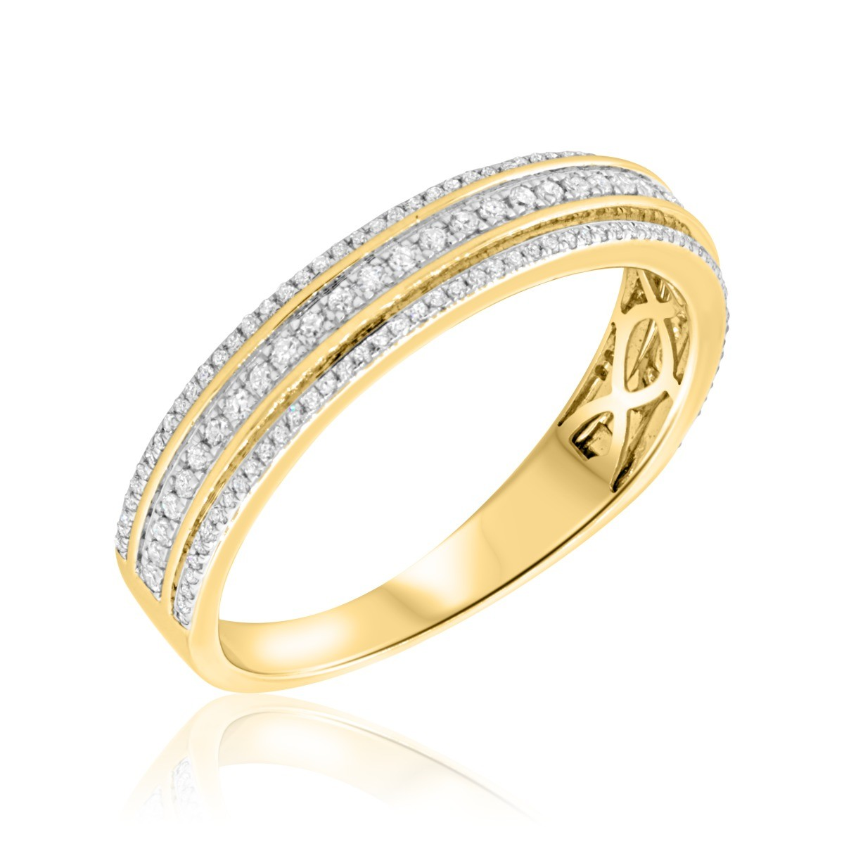 5/8 Carat T.W. Diamond Mens Wedding Band  14K Yellow Gold