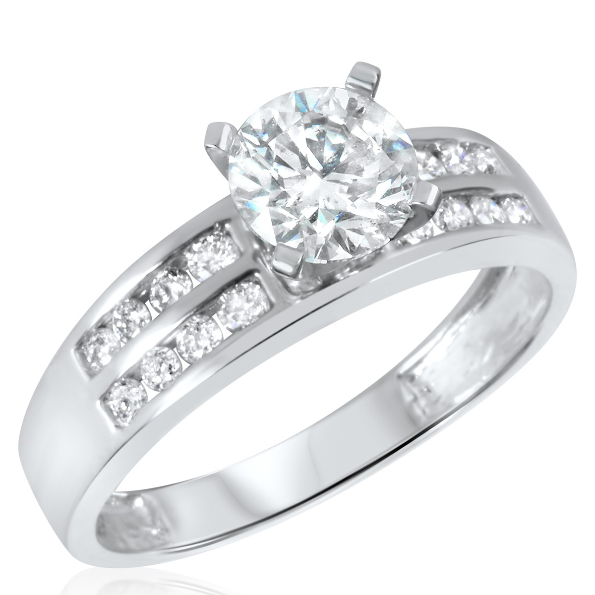 1 1/3 CT. T.W. Diamond Ladies Engagement Ring 14K White Gold