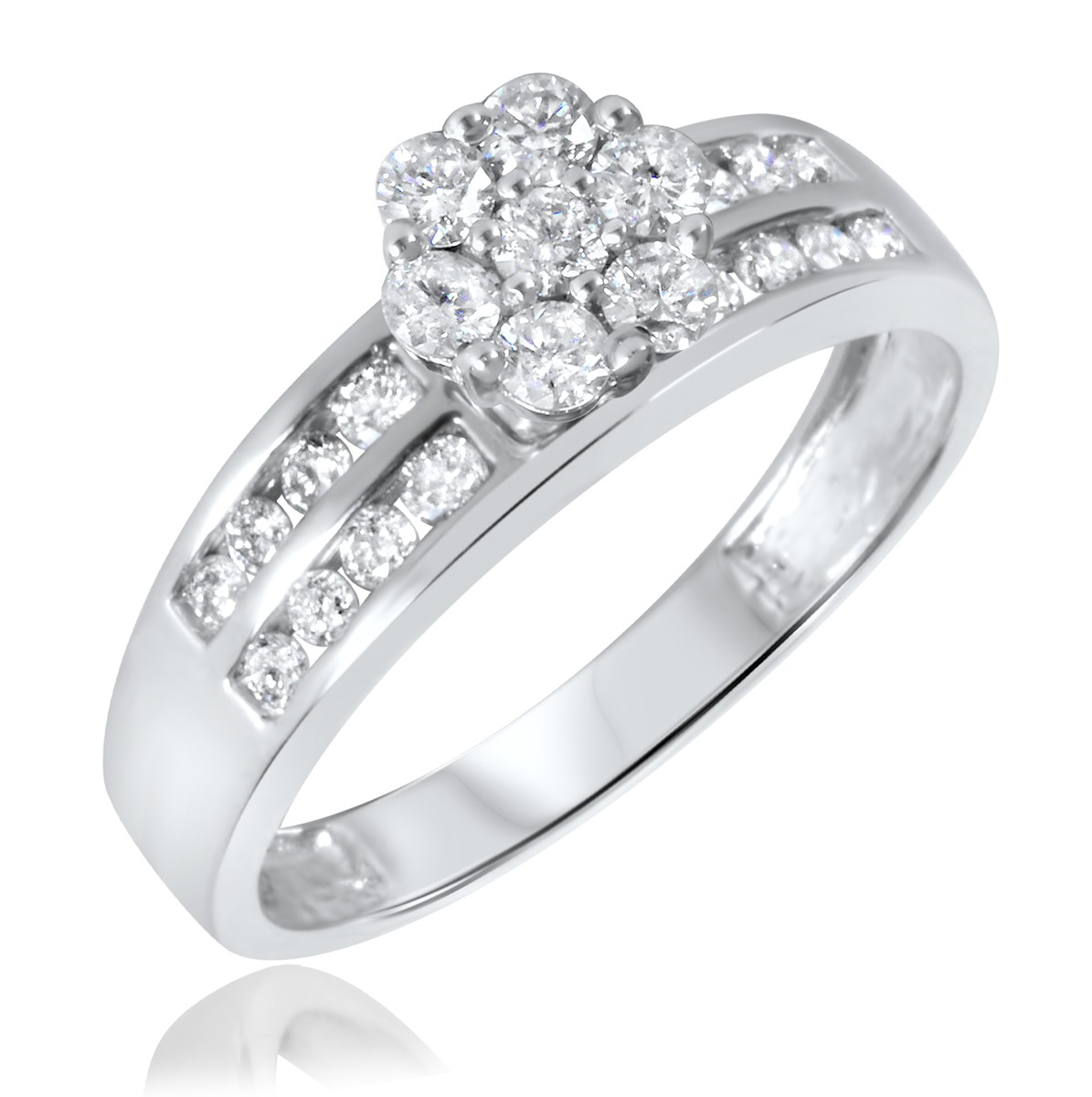 2/3 Carat T.W. Diamond Ladies' Engagement Ring 14K White Gold