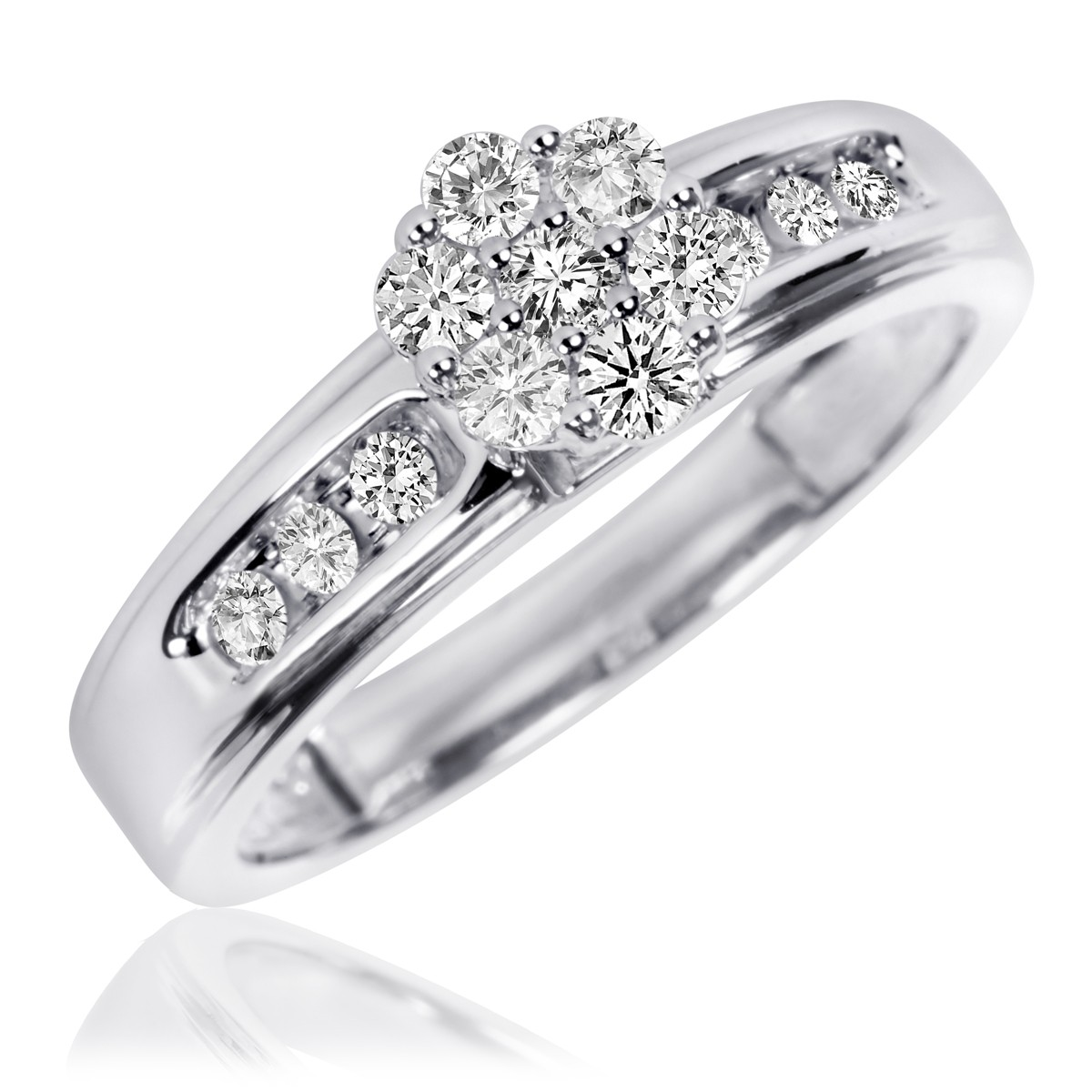 3/8 Carat T.W. Diamond Ladies' Engagement Ring 10K White Gold