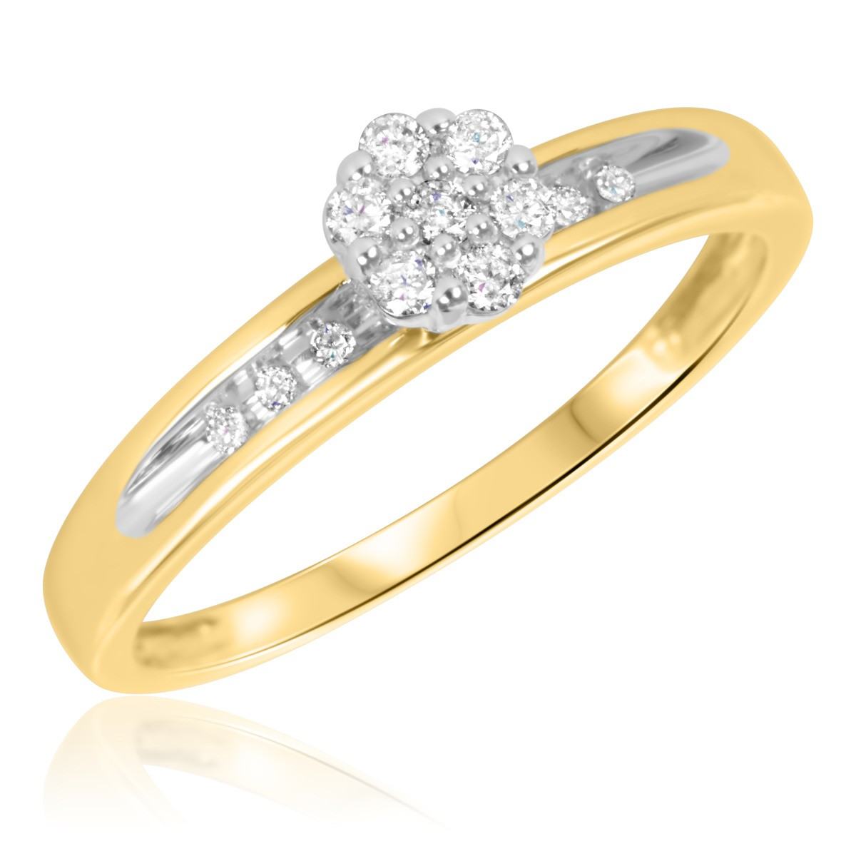 1/6 Carat T.W. Diamond Ladies' Engagement Ring 10K Yellow Gold