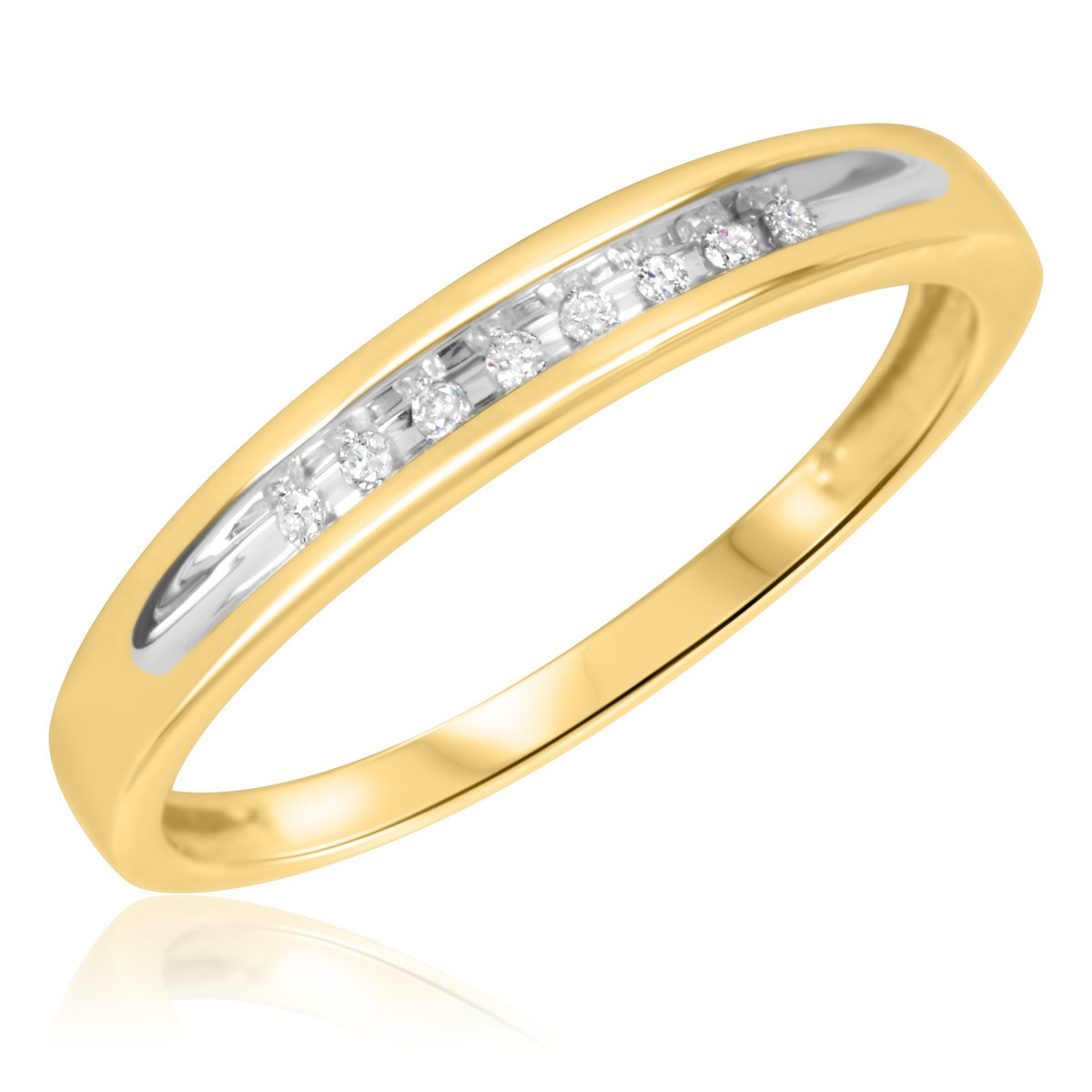1/20 Carat T.W. Diamond Ladies' Wedding Band 10K Yellow Gold