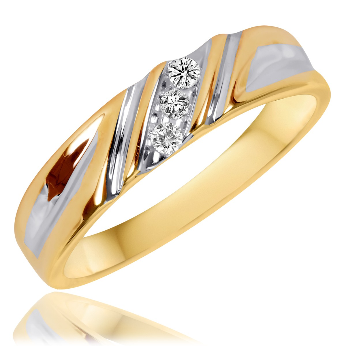 1/15 CT. T.W. Diamond Ladies' Wedding Band 10K Yellow Gold