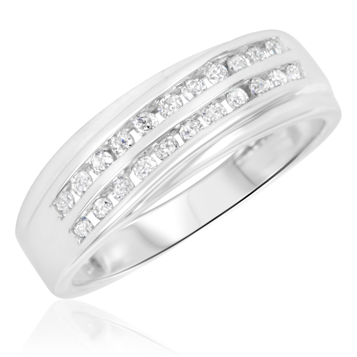 1/3 Carat T.W. Diamond Ladies' Wedding Band 14K White Gold