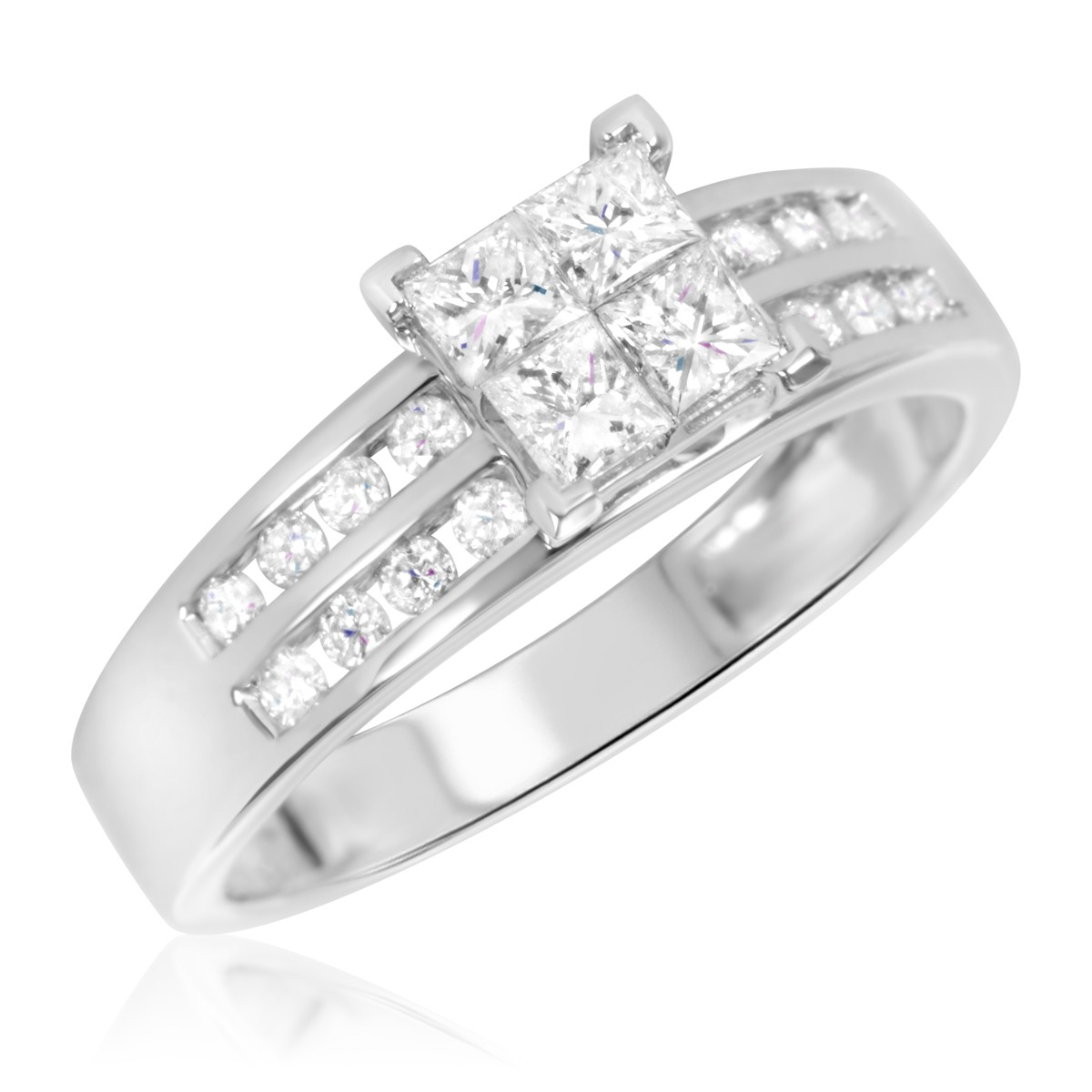 3/4 Carat T.W. Diamond Ladies' Engagement Ring 10K White Gold