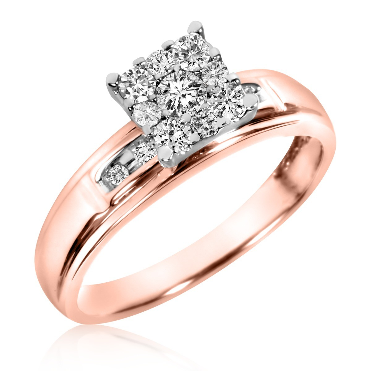 3/8 Carat T.W. Diamond Ladies' Engagement Ring 10K Rose Gold