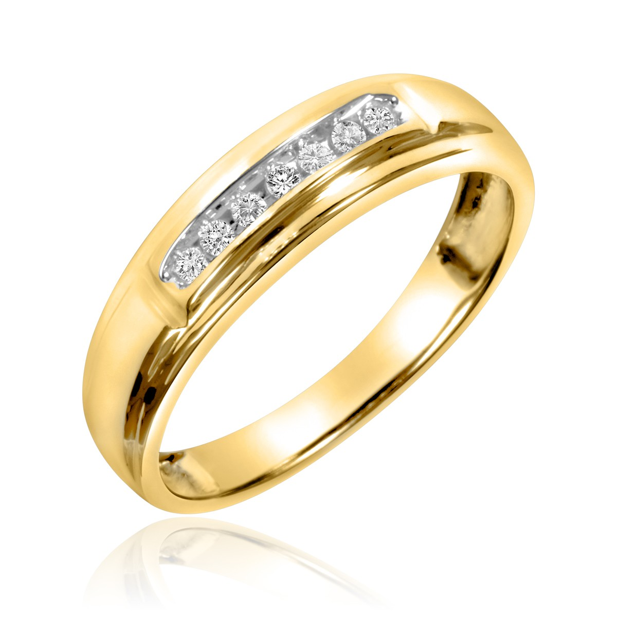 1/20 Carat T.W. Diamond Ladies' Wedding Band 14K Yellow Gold