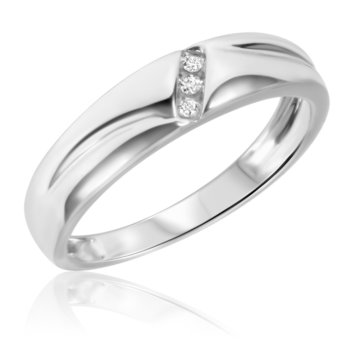1/25 Carat T.W. Diamond Ladies' Wedding Band 14K White Gold