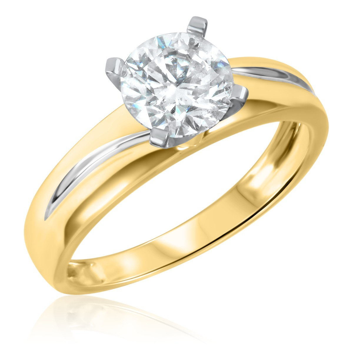 1 CT. T.W. Diamond Ladies Engagement Ring 10K Yellow Gold