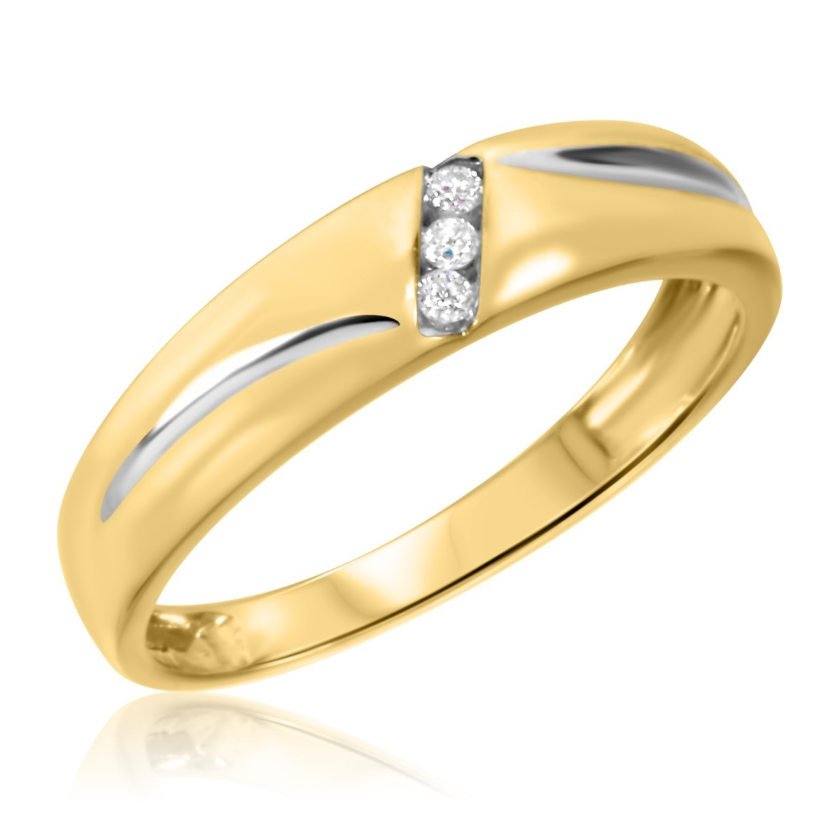 1/25 CT. T.W. Diamond Ladies' Wedding Band 10K Yellow Gold