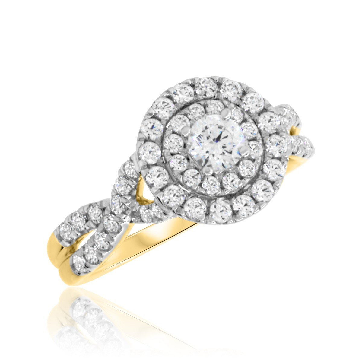 1 CT. T.W. Diamond Engagement Ring 14K Yellow Gold