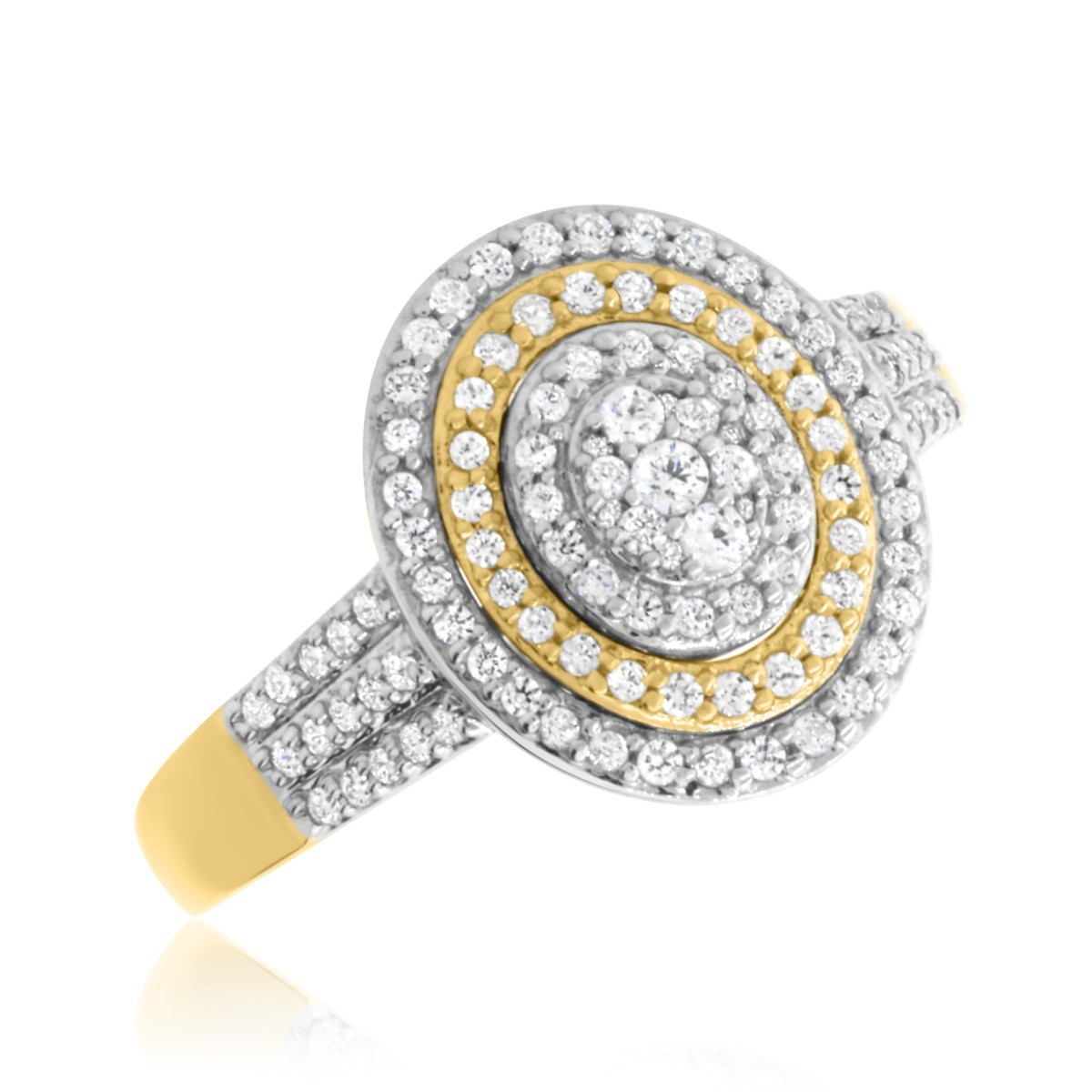 2/3 CT. T.W. Diamond Engagement Ring 14K Yellow Gold
