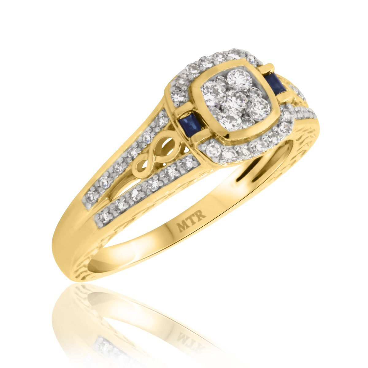 1/2 CT. T.W. Diamond Engagement Ring 14K Yellow Gold