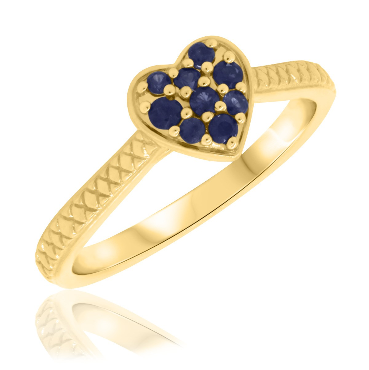 1/4 Carat T.W. Sapphire Engagement Ring 14K Yellow Gold
