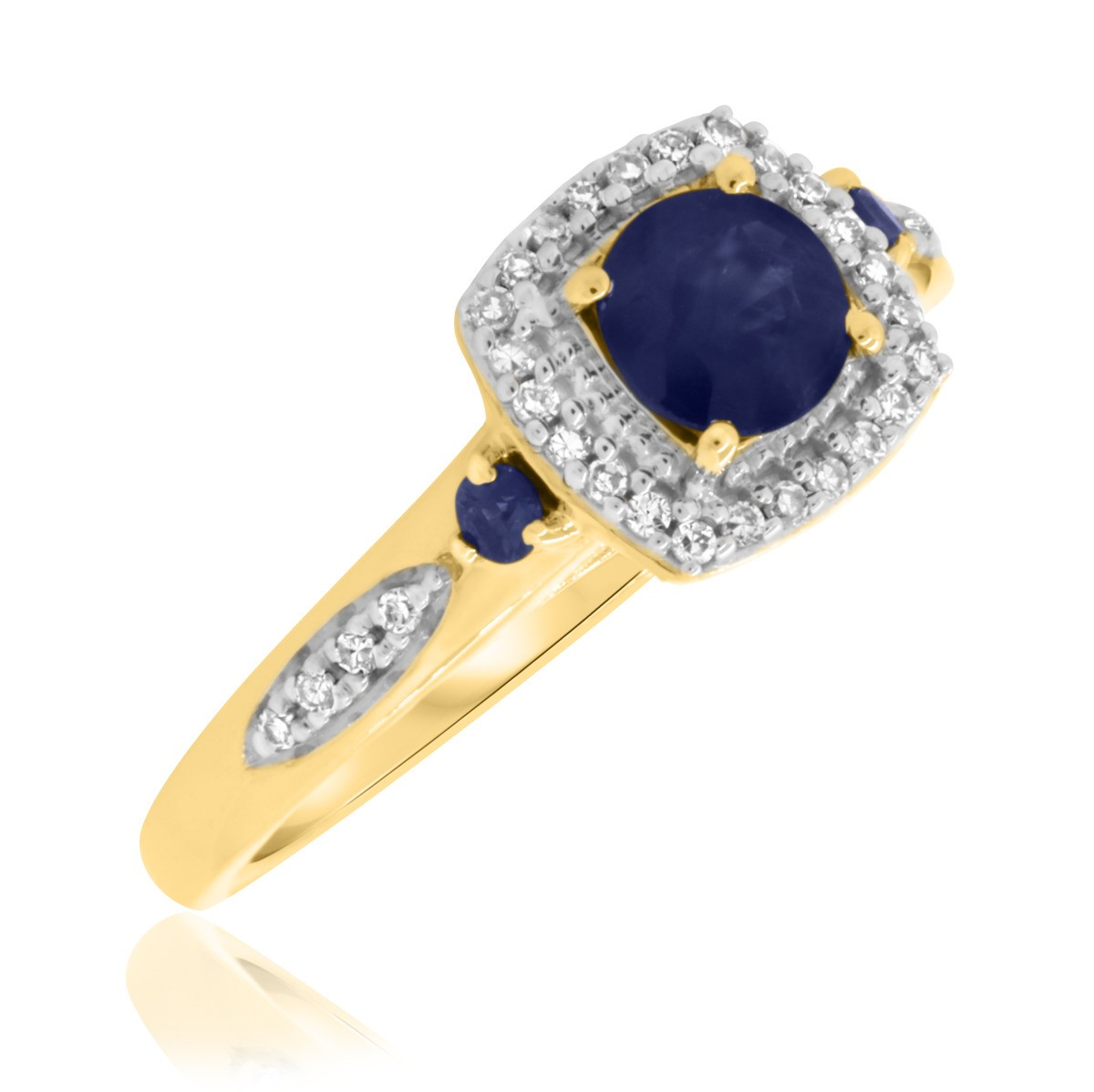 7/8 Carat T.W. Sapphire Engagement Ring 14K Yellow Gold
