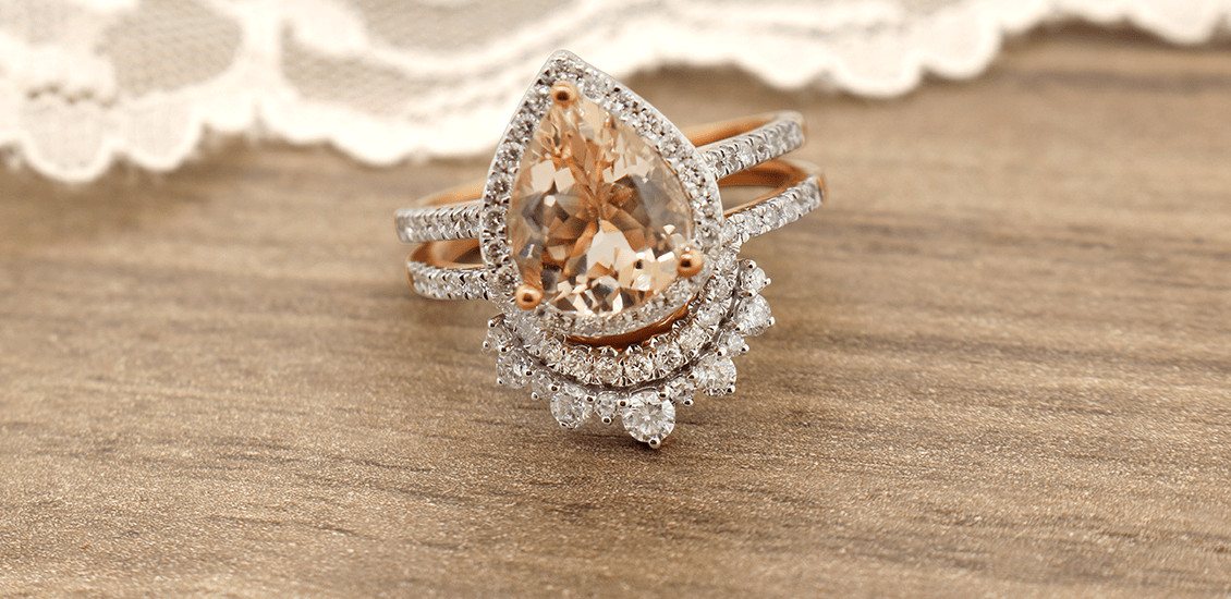 Bridal Rings My Trio Rings Morganite