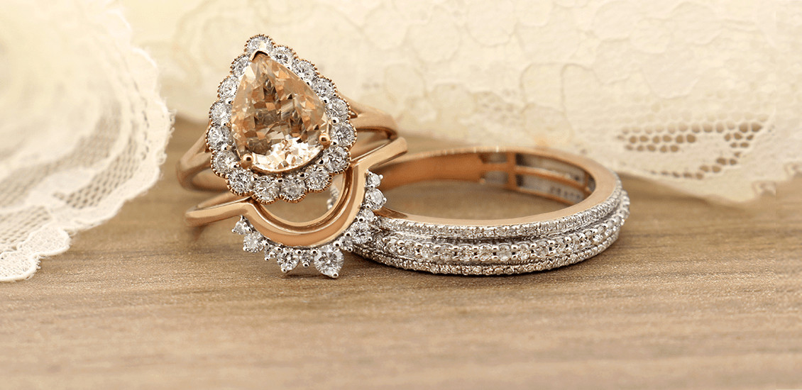 Trio Ring Sets My Trio Rings Morganite