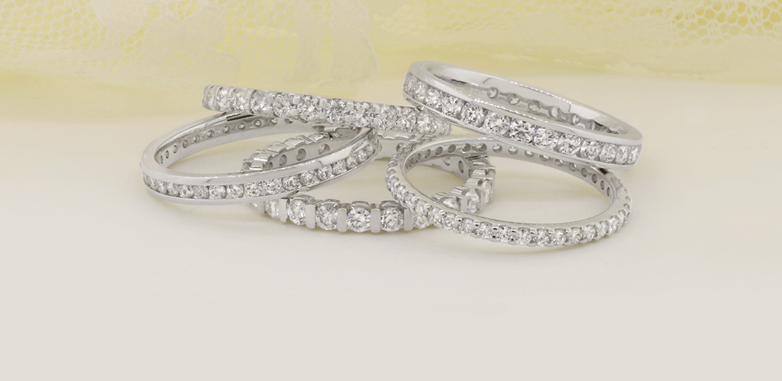 Ladies Wedding Bands My Trio Rings Stackables