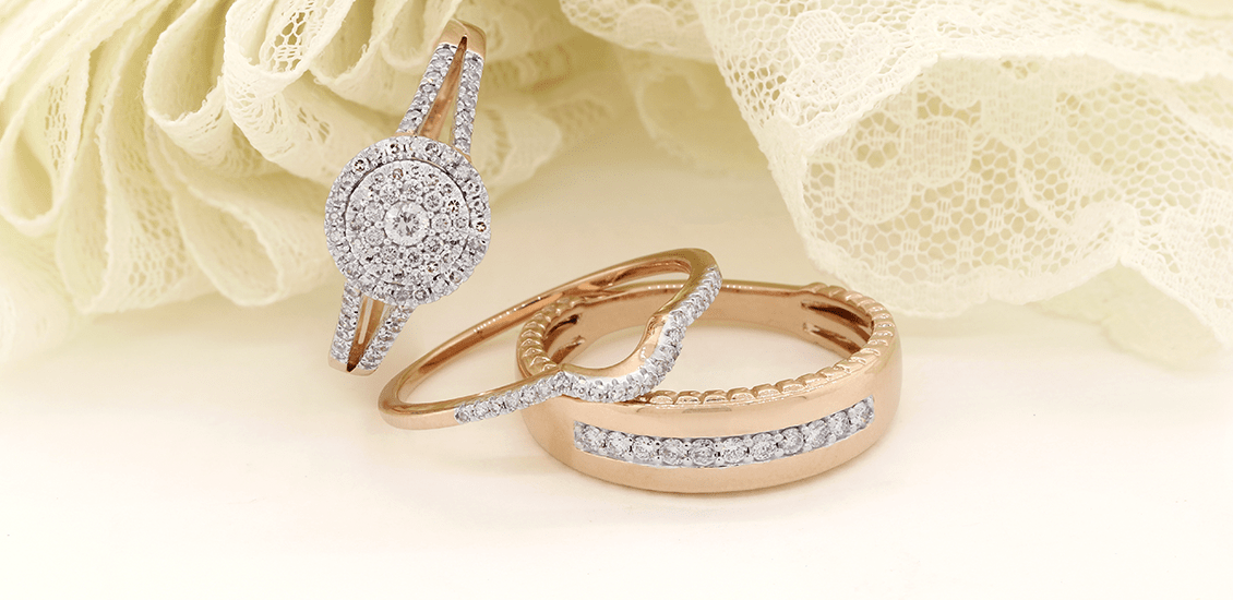 Trio Ring Sets My Trio Rings Rose Gold