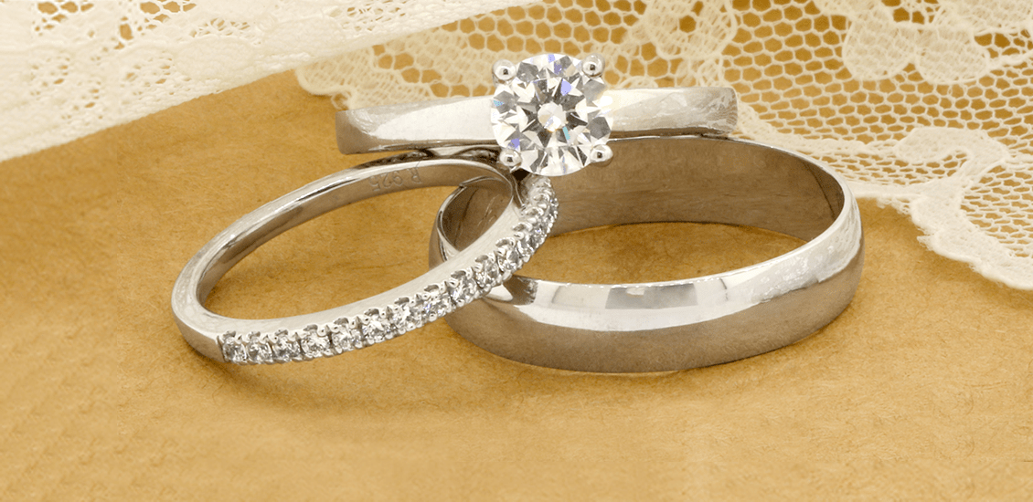 Trio Ring Sets My Trio Rings Solitaire