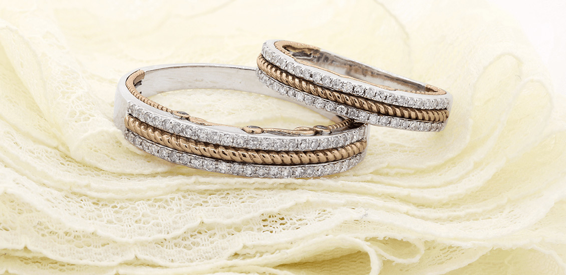 Wedding Band Sets My Trio Rings Tied Together