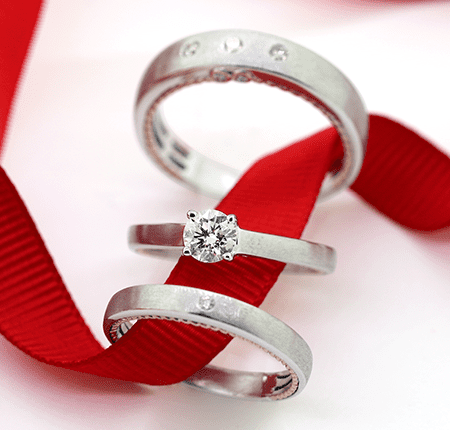 Solitaire Diamond Collection- Trio Ring Sets