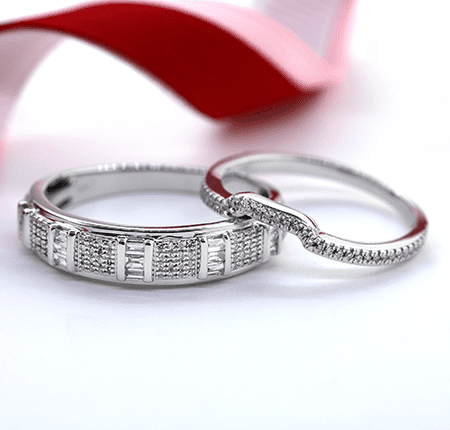 Plus Size Wedding Band Sets