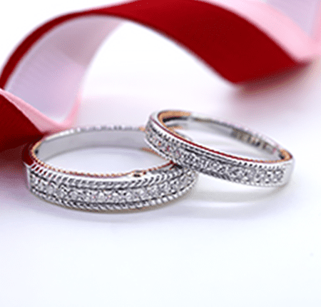 Tied Together Wedding Band Sets