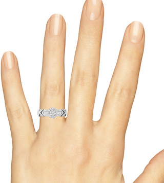 Ring on hand image of family