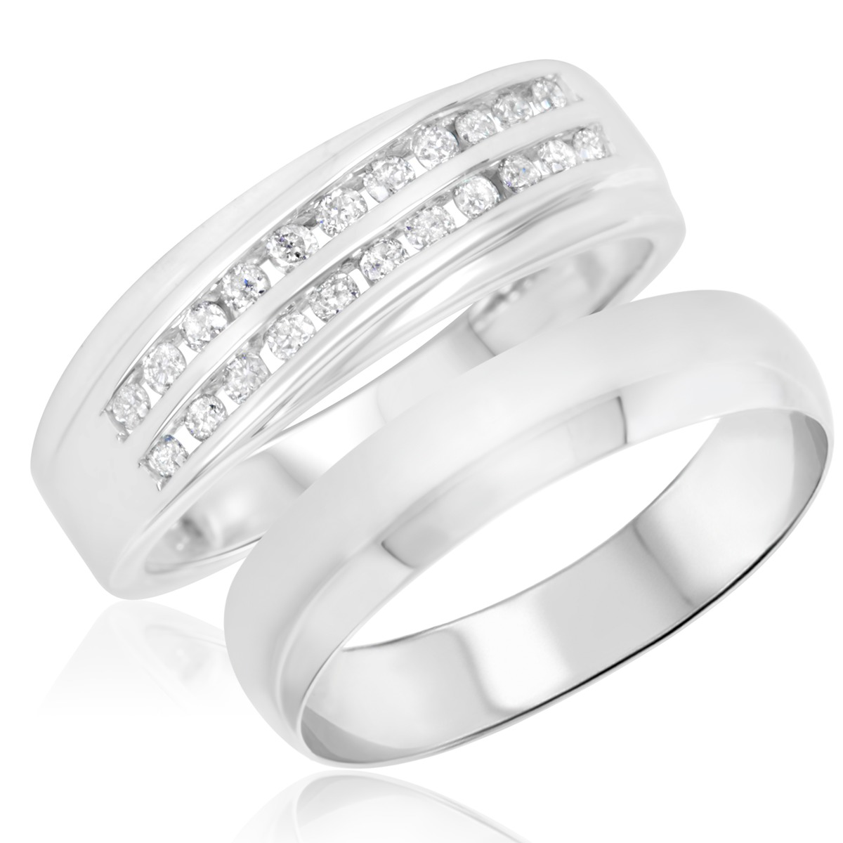 It is an image of Affordable Wedding Band Sets - Wedding Band Sets