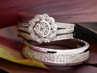 full brilliance slide with bridal rings sets