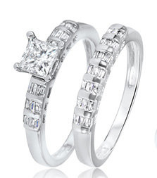 White Gold Bridal Ring Sets