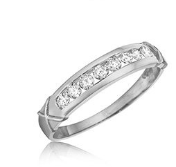 White Gold Ladies Wedding Bands