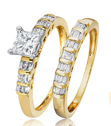Yellow Gold Bridal Ring Sets