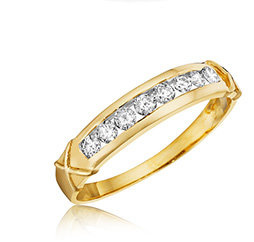 Yellow Gold Ladies Wedding Bands