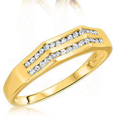 Yellow Gold Mens Wedding Bands